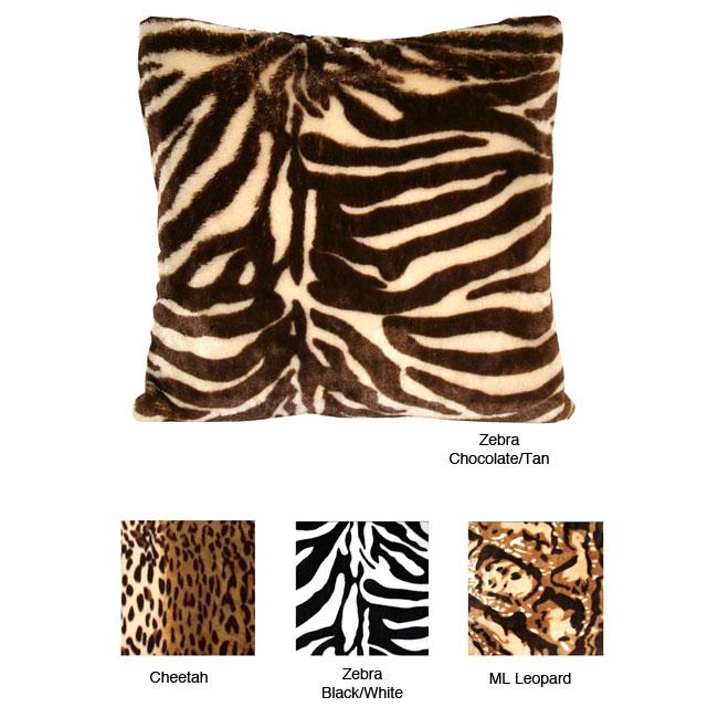Zebra Print Decorative Pillow : Animal Print Pillows Safari Bedding