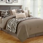 7 Piece Zebra Comforter Set