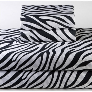 Sin in Linen Zebra Bedding