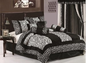 King Size Zebra Comforter Set