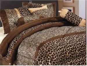 7 Piece Safari Micro Fur Comforter Set