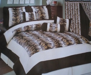 Brown Zebra Bedding