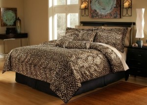 Leopard Faux Fur Bed in a Bag Set