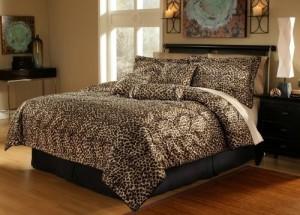 Leopard Faux Fur Bed in a Bag Set