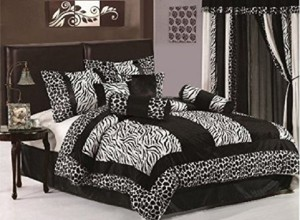 Black & White Zebra Print Bedding