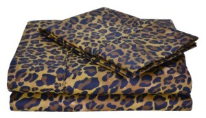 Leopard Print Twin Sheet Set
