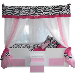 Princess Canopy Bedding – Zebra Print