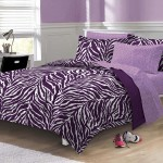 Purple Zebra Print Comforter Set