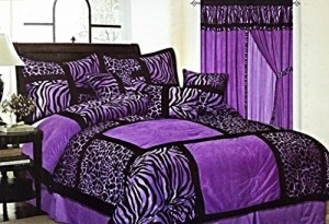 Zebra & Giraffe Print Comforter Set