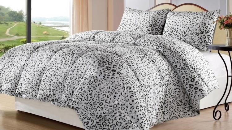 Snow Leopard Comforter Set