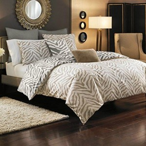 Brown Zebra Brown Duvet Cover Set